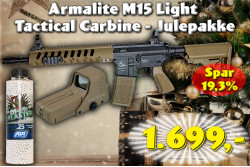 ASG Armalite M15 Light Tactical Carbine, Tan, SLV,  Julepakk..