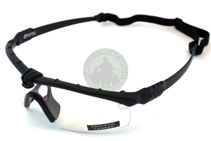 Battle Pro - Brille, Sort ramme med klart glas
