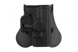 Amomax - Bæltehylster, Glock 42, Sort, Højre..