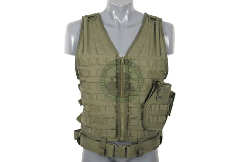 8 Fields - Lightweight molle tactical vest, Grøn