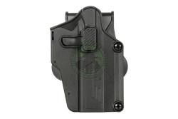 Amomax - Per-fit holster, Bæltehylster, Universal, Sort, Høj..