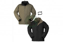 MilTec - Cold Weather Jacket, vendbar, Sort/Ranger Green..