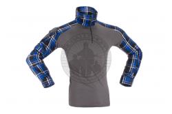 Invader Gear - Combat Shirt, Flannel, Blå..
