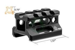 UTG - Universal Super Slim Riser Mount 3 Slot 0.75..