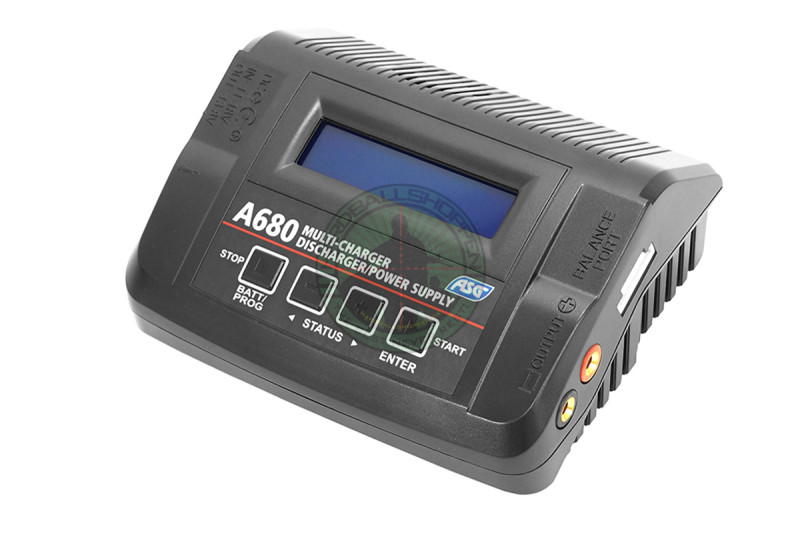 ASG - Lader A680, LiPo/LiFe/LiHV/NiMH/NiCD/Pb