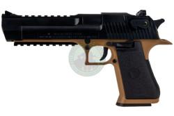 Desert Eagle 50AE, Tan body, Black Slide..