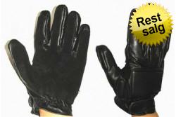 Swat læder handsker m. fingr..