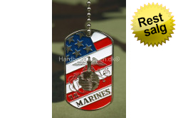 Dog Tag, US Marines Flag..