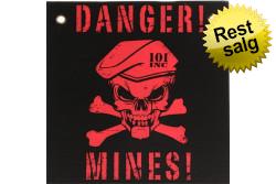 Skilt, Plastik, Danger Mines..