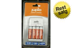 Jupio Compact lader inkl. 4 stk AA 2.700 mAh..