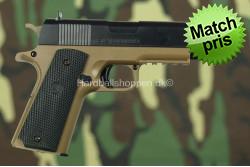 Colt 1911, Tan/Sort..