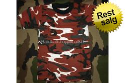 T-shirt Børn Rød camo Medium..