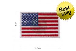 1871369089e2 Stofmærke USA flag m. hvid kant 8 x 5cm .